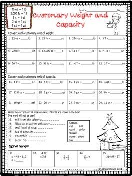 Christmas Measurement: Customary And Metric