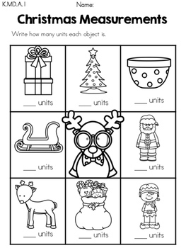 Christmas Measurement - Free Math Center
