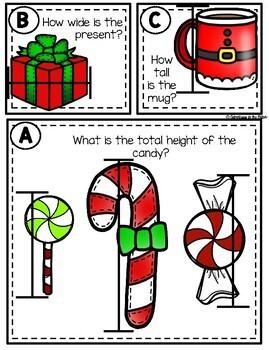 Christmas Measurement Task Cards