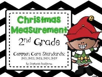 Christmas Measurement (inches, cm, meters, feet, line-plots)