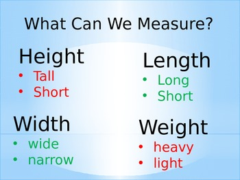 Christmas Measuring Power Point