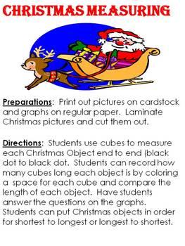 Christmas Measuring using non-standard measuring