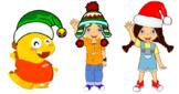 Christmas Meg, Mike, & Dino (VIPKID)