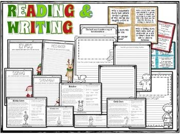 Christmas Math and Literacy Activites Bundle - 3rd Grade