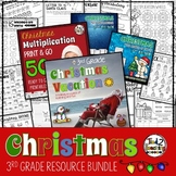 Christmas Math and Literacy Activities Bundle for 3rd Grade