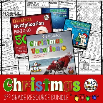 Christmas Math and Literacy Activites Bundle - 3rd Grade
