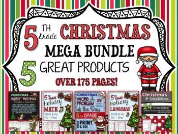 Christmas Mega Bundle - 5th Grade