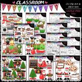 Christmas Clip Art & B&W Bundle (8 Sets)