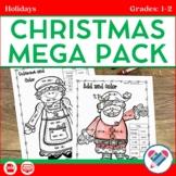 Christmas Reading Writing and Math Activities Grades 1-2 Digital and PDF