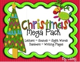 Christmas Mega Pack~ Letters, Sounds,Sight Words, Numbers, Writing Paper)