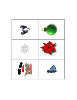 Christmas Memory Card Matching Game