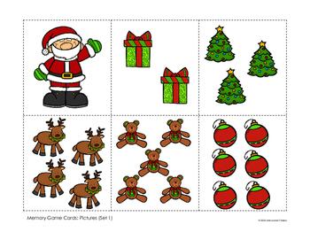 Christmas Memory Game (1-10)