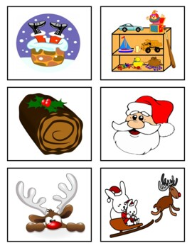 Christmas Memory Game, Word Wall, and PowerPoint Presentation