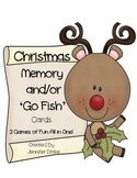 Christmas Memory & Go-Fish Cards!  ~2 Games In One!~ PreK-1 Fun!