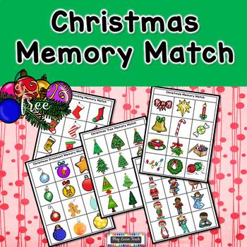 Christmas Memory Match - FREE