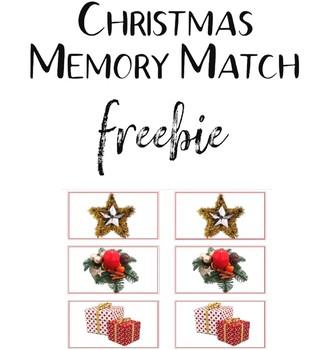 Christmas Memory Match Freebie