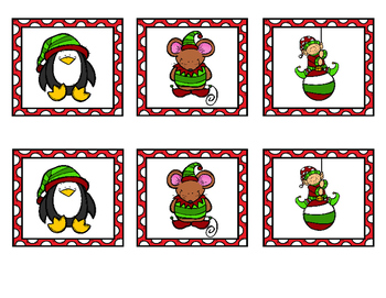 Christmas Memory Matching Activity