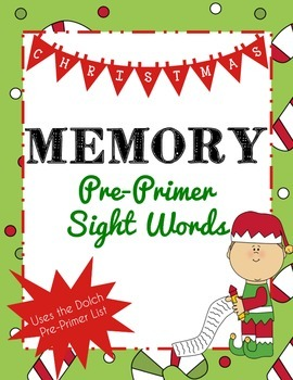 Christmas Memory with Dolch Sight Words (Pre-Primer)