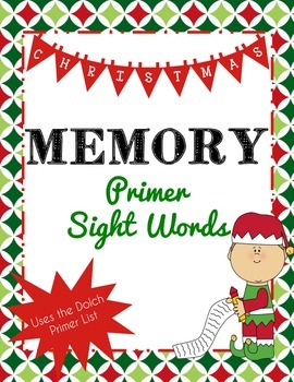 Christmas Memory with Dolch Sight Words (Primer)