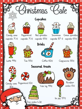 Christmas Menu Math + Task Cards