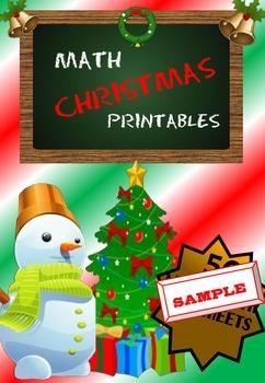Christmas Math Free