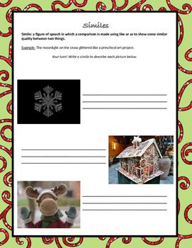 Christmas Metaphors and Similes, ELA 4-8
