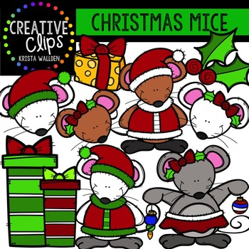 Christmas Clipart Mice {Creative Clips Clipart}