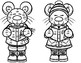 Christmas Mice Double Digit Addition No Regrouping Math CRAFT