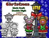 Christmas Mice Double Digit Addition Regrouping Math CRAFT