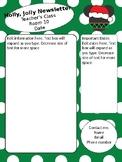 Christmas Mickey themed newsletter template - editable