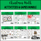 Christmas Middle School Math Activities & Games BUNDLE