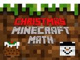 Christmas Minecraft Math: Area, Perimeter, Volume, Decimals and Percentages