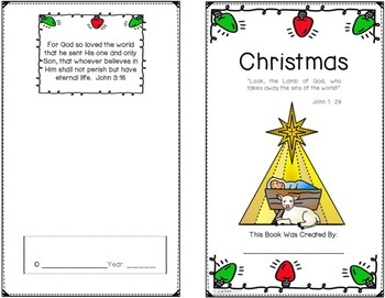 Christmas, Mini Book Craftivity, Sequencing Game, Teaching Posters and Games