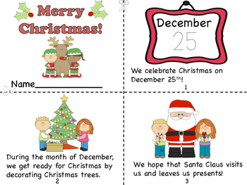 Christmas Mini Book and Santa Letter/Christmas List Pages