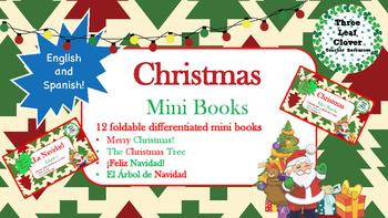 Christmas Mini Books - English and Spanish - Bilingual, Sp