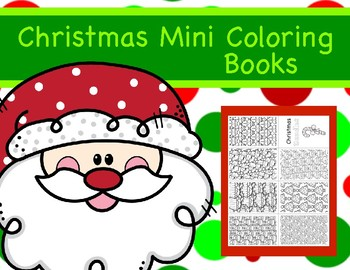 Christmas Mini Coloring Books