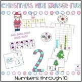 Christmas Mini Eraser Fun