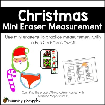 Christmas Mini Eraser Measurement