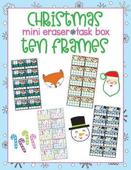 Christmas Mini Eraser Task Box Ten Frames