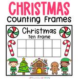Christmas Mini Eraser Ten Frames   Individual Math Center   Morning Work Tub