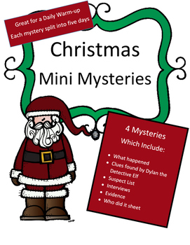 Christmas Reading Activity: 4 Mini Mysteries for a Daily Warm-up