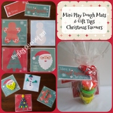 Christmas Mini Play Dough Mats and Gift Tags Christmas Favours