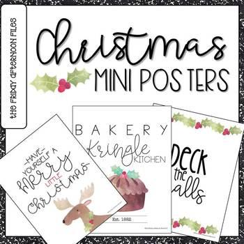 Christmas Mini Posters