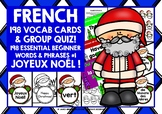 CHRISTMAS: FRENCH VOCABULARY CARDS & QUIZ #1