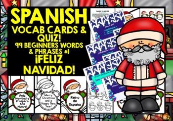 SPANISH STARTER VOCABULARY (1) - CHRISTMAS PRACTICE & REVISION