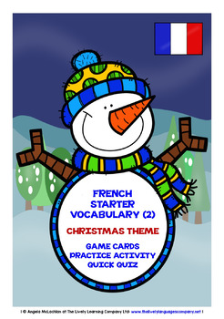 FRENCH STARTER VOCABULARY (2) - CHRISTMAS EDITION - GAMES