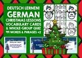 CHRISTMAS: GERMAN VOCABULARY CARDS & QUIZ #2