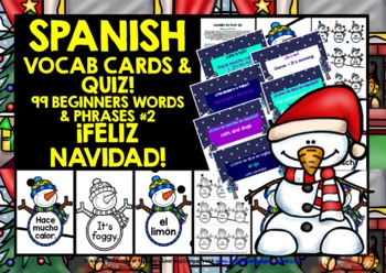 SPANISH STARTER VOCABULARY (2) - CHRISTMAS EDITION - GAMES