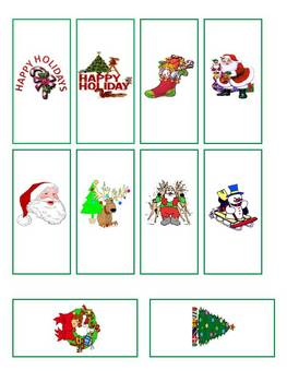 Christmas Miniature Chocolate Candy Bar Wrappers