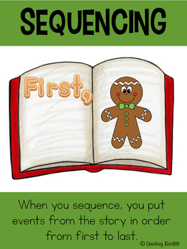 """Christmas Minilesson pack for """"A Cookie for Santa"""""""